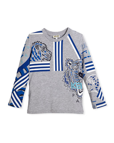 Long-Sleeve Logo Tiger Tee, Size 4-6 and Matching Items