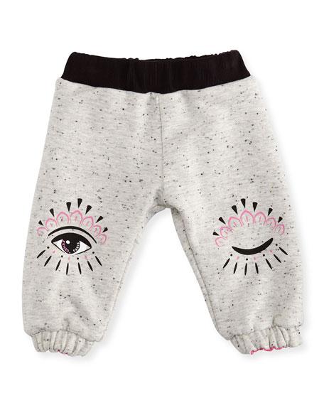 Reversible Eye-Print Sweatpants, Size 12-18 Months