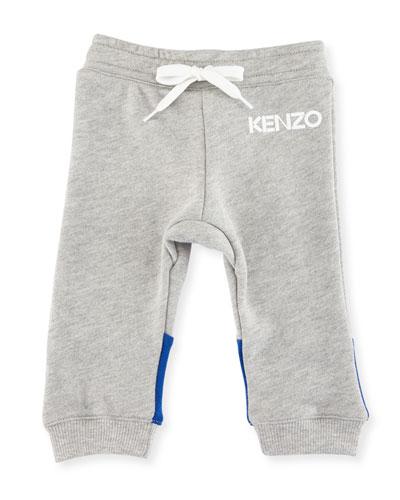 Logo Drawstring Sweatpants, Gray, Size 12-18M and Matching Items