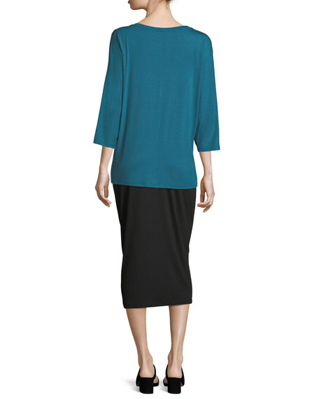 3/4-Sleeve Jersey Top, Petite