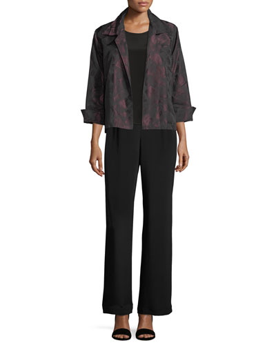 Brushstroke Jacquard Gala Jacket, Petite and Matching Items