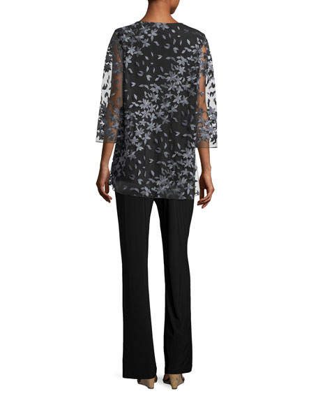Floral Notes Layered Tunic, Petite