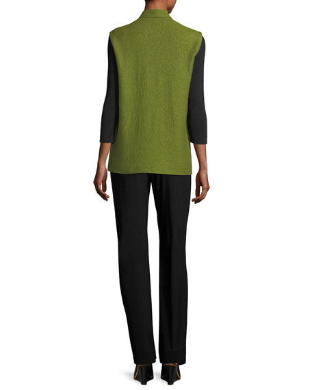 3/4-Sleeve Stretch-Knit Top, Plus Size