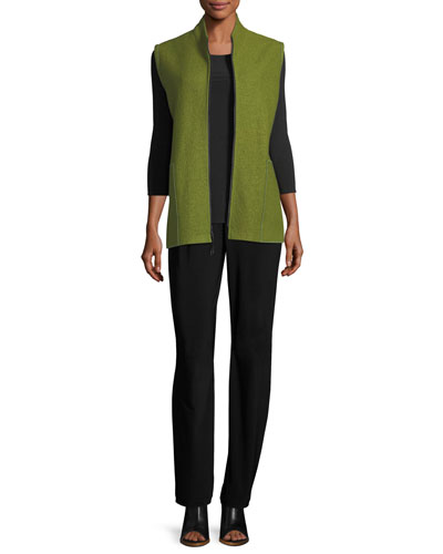 Stretch-Knit Straight-Leg Pants, Plus Size and Matching Items