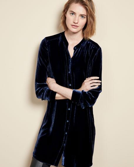 Long Washable Velvet Tunic Top, Plus Size