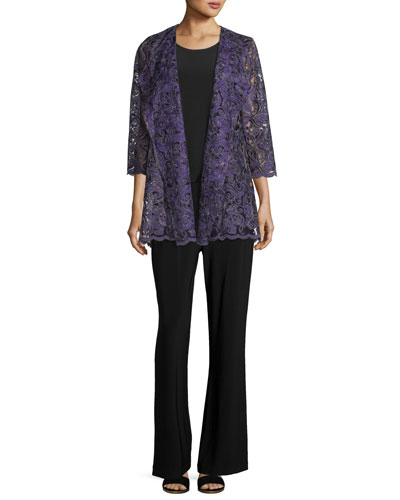 Luxe Embroidery Cardigan, Plus Size and Matching Items