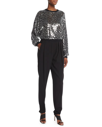 Sequined Leopard Sweatshirt and Matching Items