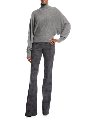 Cashmere Dolman-Sleeve Turtleneck Sweater and Matching Items