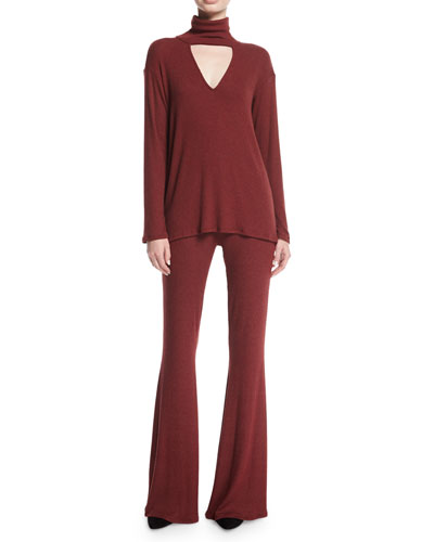 Karson Ribbed Wide-Leg Pants and Matching Items