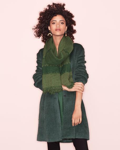 Drapey Suri Alpaca-Blend Long Coat