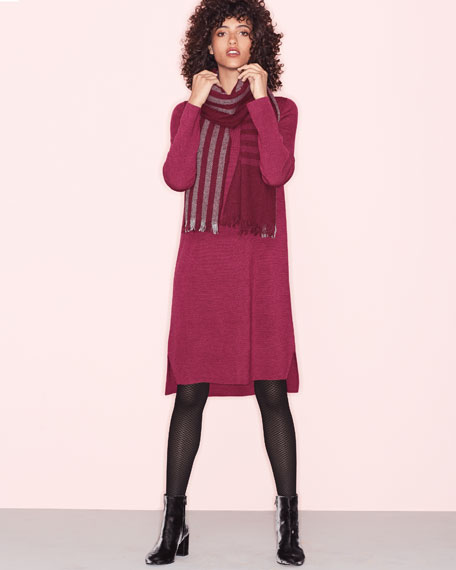Fine Merino Interlock Knee-Length Dress