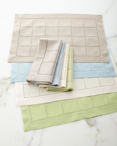 Block Hemstitch Table Linens