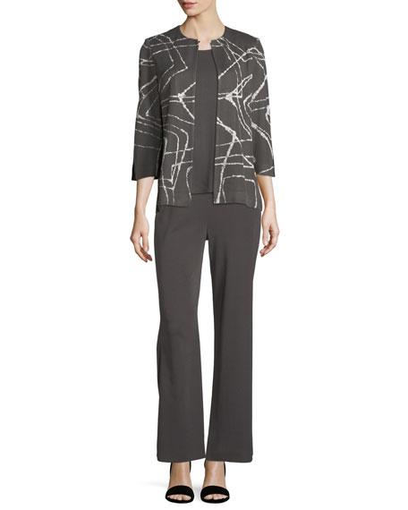 Spiderweb 3/4-Sleeve Jacket, Plus Size