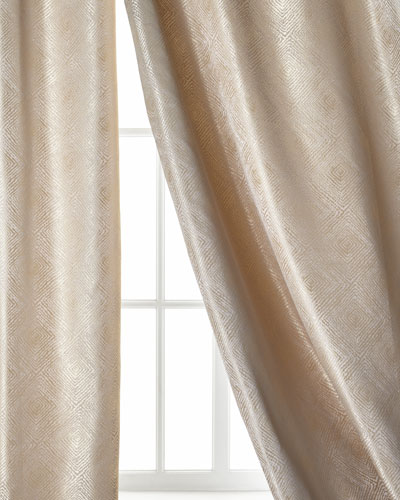 Polygon Curtain, Ivory, 96