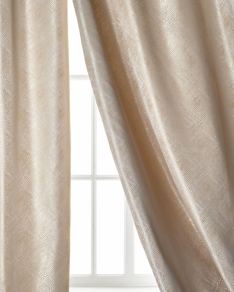 Polygon Curtain, Ivory, 96""
