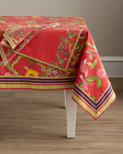 Bird Coral Table Linens