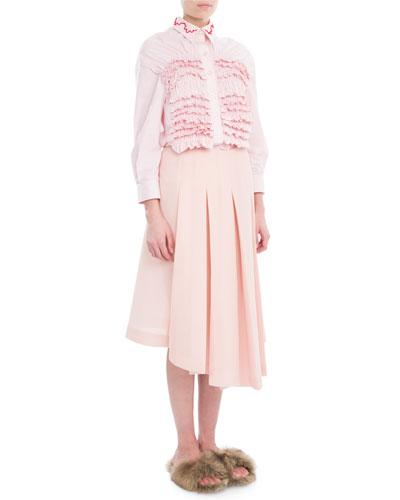 Box-Pleated Midi Skirt and Matching Items