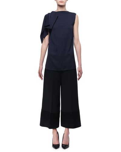 Satin-Trim High-Rise Culottes and Matching Items