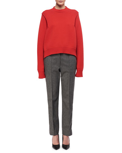 Paneled Wool-Cashmere Pants and Matching Items