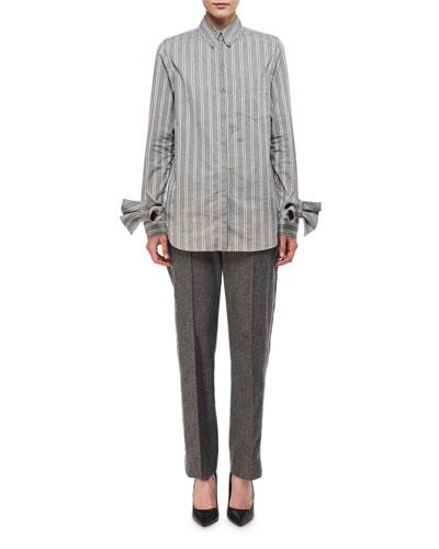 Paneled Wool-Cashmere Pants and Matching Items