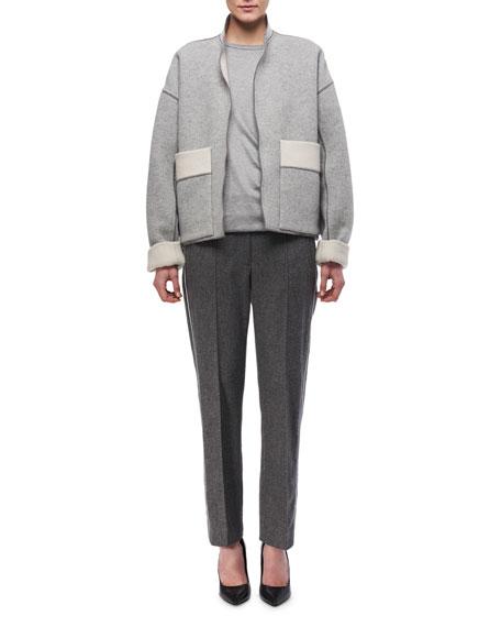 Oversized Double-Sided Wool Jacket