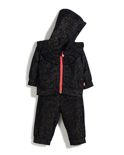 Two-Piece Metallic Velour Track Suit Set, Size 12-18 Months and Matching Items