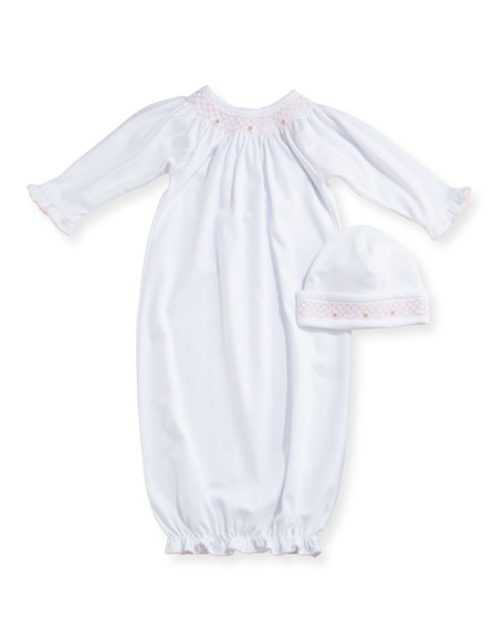 Fall Bishop Printed Pima Convertible Sleep Gown, Size Newborn-Small