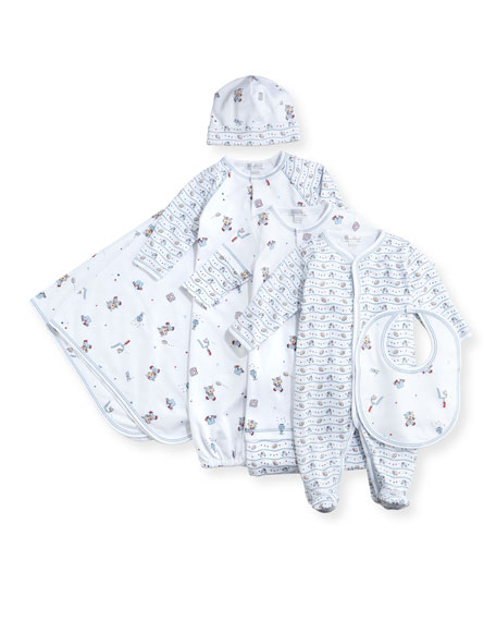 First Down Football Print Footie Pajamas, Size 0-9 Months