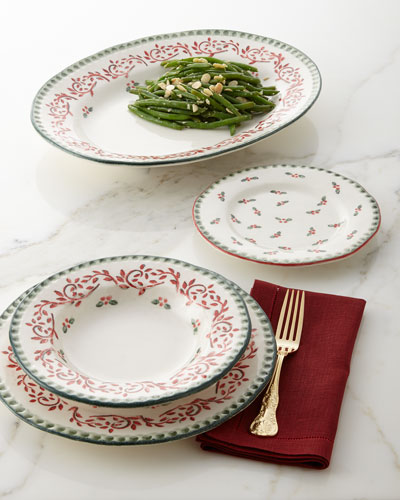 Holiday Salad Plates, Set of 4 and Matching Items