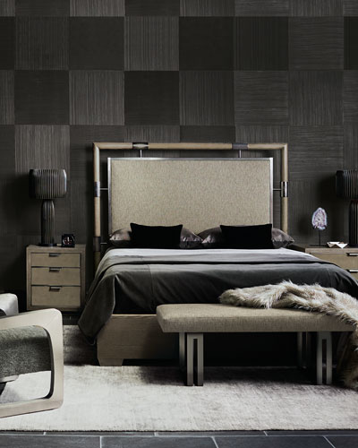 Annistyn Metal Accent California King Bed and Matching Items
