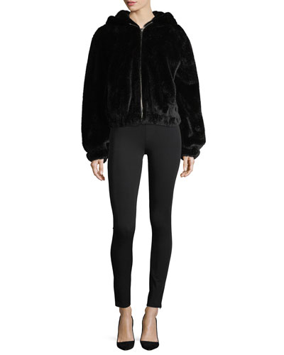 Hooded Faux-Fur Bomber Jacket and Matching Items
