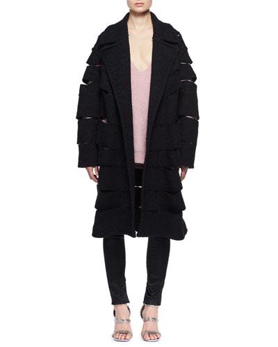 Slashed Tweed Caban Coat and Matching Items