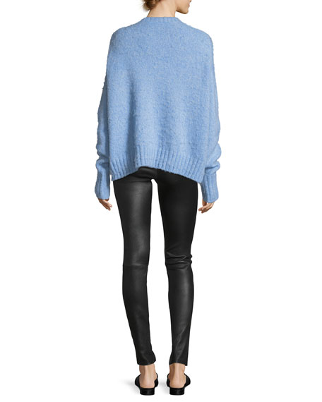 Crewneck Brushed Wool Pullover Sweater