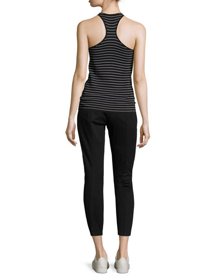 Matt Scoop-Neck Striped Racerback Tank