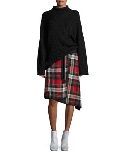 Ilha Plaid High-Waist A-Line Skirt and Matching Items
