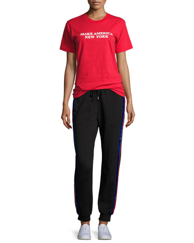 Lucia Side-Stripe Jogger Pants and Matching Items