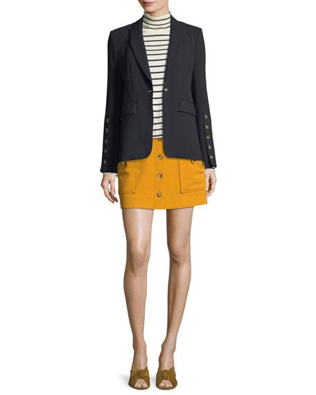 Steele Cutaway Button-Cuff Tailored Jacket