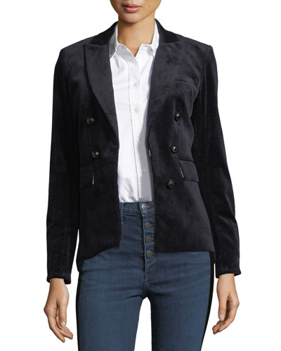 Clifford Double-Breasted Hook-Front Corduroy Jacket and Matching Items