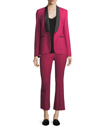 Keaton Single-Button Shawl-Lapel Tuxedo Blazer and Matching Items