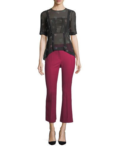 Vaughn Mid-Rise Seamed Cropped Flare Pants and Matching Items