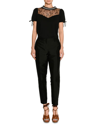 Mid-Rise Skinny Crepe Pants and Matching Items
