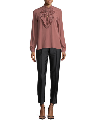 Velvet Pencil Midi Skirt w/ Embellishments and Matching Items