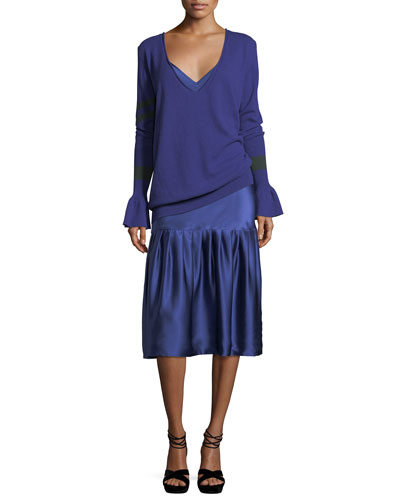 Don't Underestimate Me Silk Satin Midi Slip Dress and Matching Items
