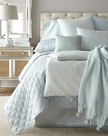 Quilted Silken Solid King Coverlet
