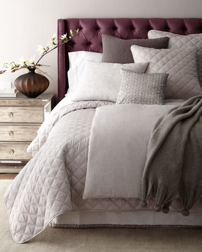 Full/Queen Quilted Silken Solid Coverlet  and Matching Items