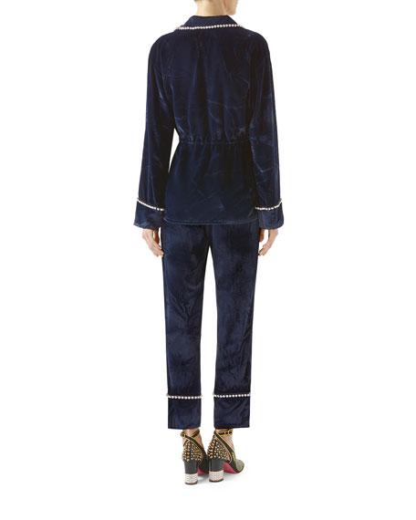 Viscose-Silk Velvet Shirt