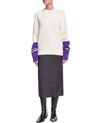 Plaid Wool-Silk Midi Skirt and Matching Items
