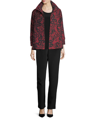 Paisley Cloque A-line Jacket, Plus Size  and Matching Items