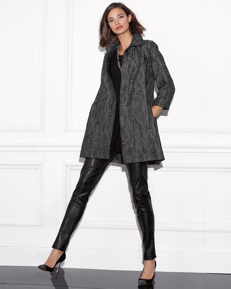 Bi-Stretch Faux-Leather Pants
