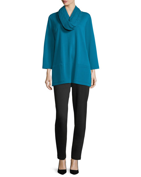 3/4-Sleeve Front-Pocket Tunic